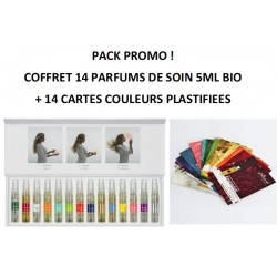 PACK COFFRET 14 PARFUMS DE SOIN BIO 5ml + 14 CARTES !!