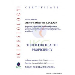 Code Certificat IKC TFH Proficiency