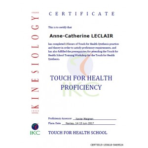 Code Certificat IKC TFH Proficiency (réussite examen)