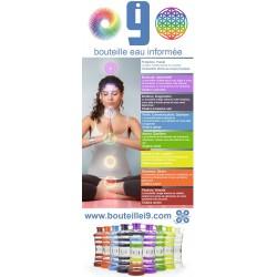Bouteille d'eau informée i9 (couleur des 7 chakras)