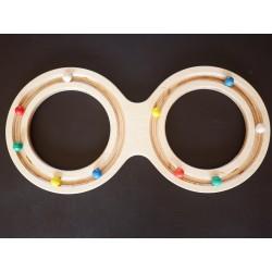 8 en bois - 2 cercles